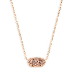 Kendra Scott Rose Gold Drusy Elisa Necklace
